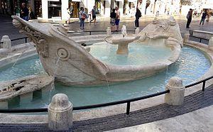 Fontana della Barcaccia - Fontana della Barcaccia in Piazza di Spagna, Rome