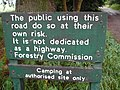 Forestry Sign at Savenake Forest - geograph.org.uk - 192129.jpg