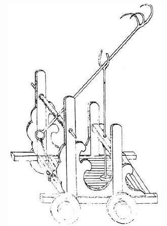 Chinese siege weapons - A fork cart