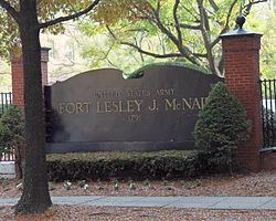 Fort Lesley J McNair - front sign - Washington DC.jpg