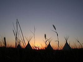 Fort Union National Monument Tipi Sunset Grass 1372.jpg