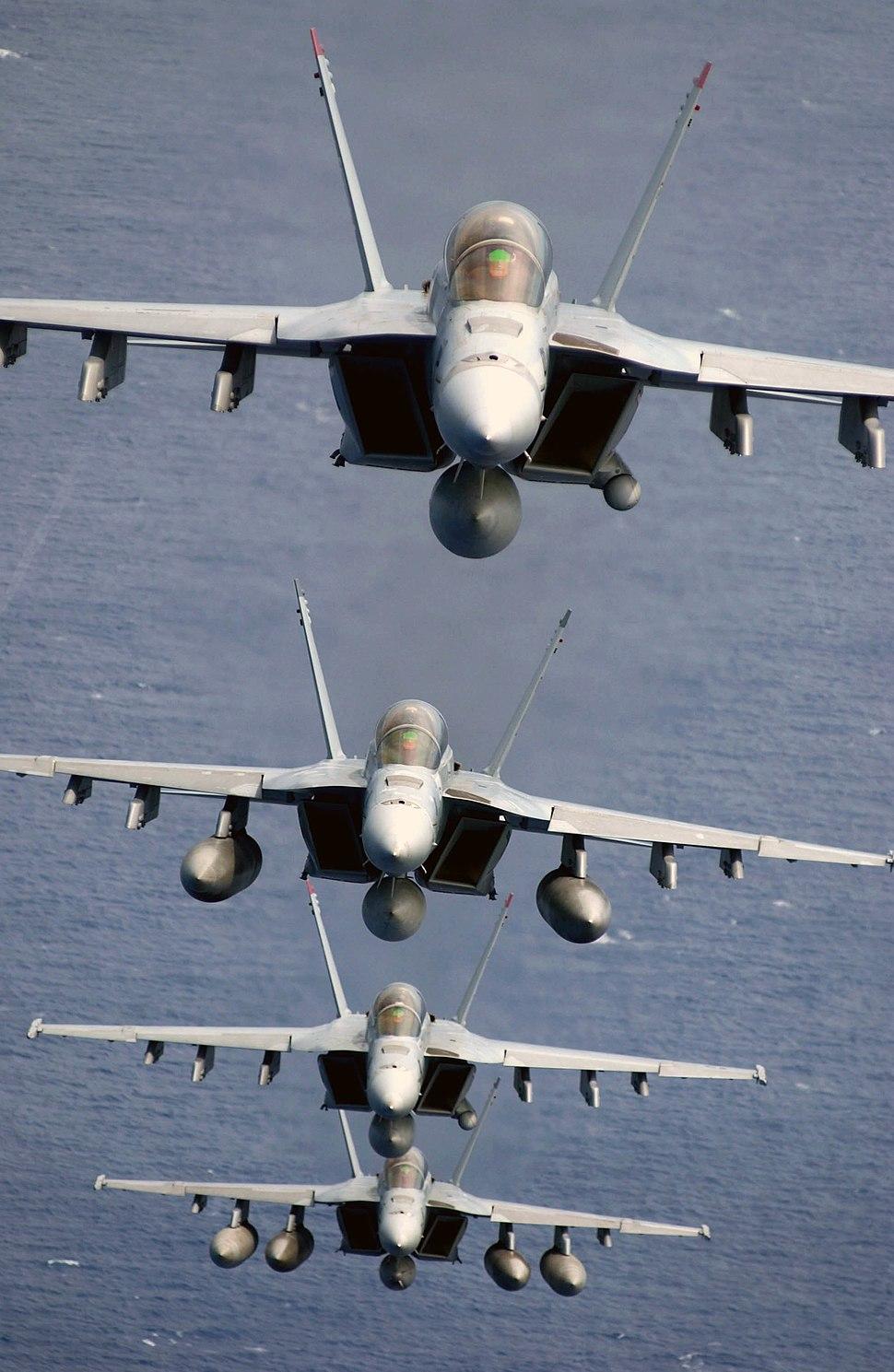 Four Super Hornets