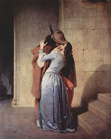 """""""Kyssen"""" av Francesco Hayez (olja på duk, 1859)."""