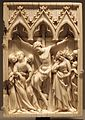 Francia o valle del reno, sportello di dittico con la crocifissione, avorio, 1340-1350 ca.jpg