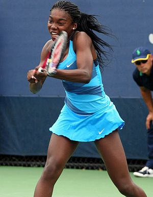 Françoise Abanda - Abanda at the junior 2012 US Open