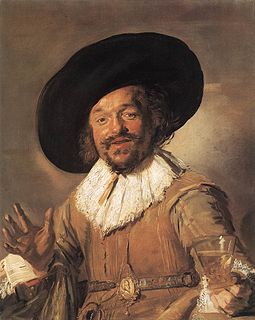 <i>The Merry Drinker</i> painting by Frans Hals