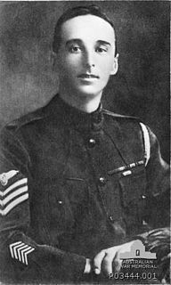 Frederick Hamilton March Australian soldier, Recipient of the Empire Gallantry Medal