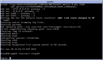 FreeBSD - FreeBSD 9.1 startup with console login prompt