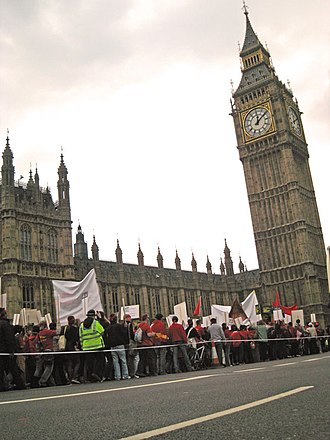 Burma Campaign UK - Protesters march past Big Ben in 2007