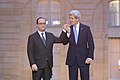 French President Hollande and Secretary Kerry Clasp Hands to Express American Solidarity With the French People (16265806996).jpg