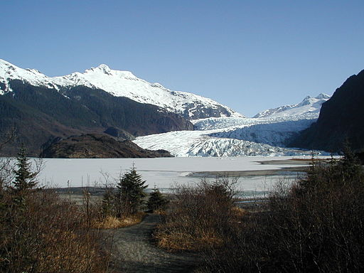 Frozen Lake of Juneau's Mendenhall Glacier