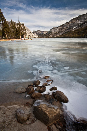 Tenaya Lake - Frozen Tenaya Lake