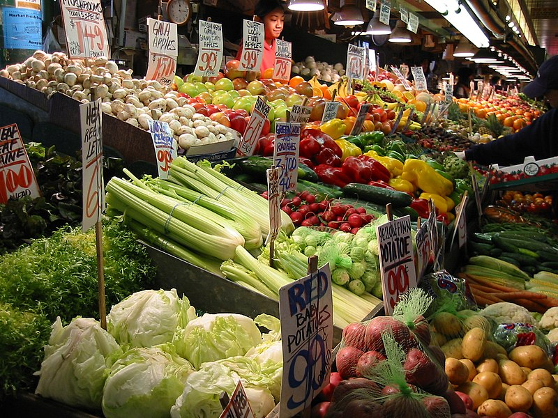 Fruits and Vegetables at Pike Place Market