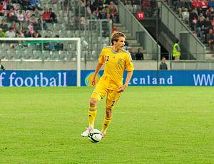 Marko Dević - Dević in action against Austria in June 2012