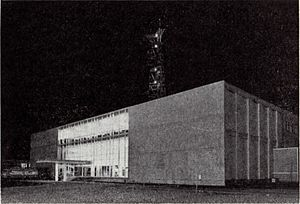 Fuji Television - The second Fuji TV HQ in Kawadacho, Shinjuku, circa 1961