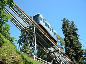 Funiculaire de Pau - The railway from below