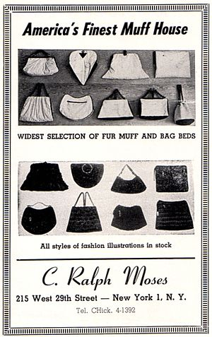 Fur trade - Fur muff manufacturer's 1949 advertisement