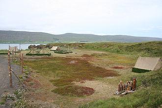 Gásir - General view of Gásir Iceland