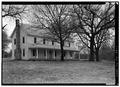 GENERAL VIEW OF BUILDING, FROM NORTHWEST - Saline Courthouse, Leach, Delaware County, OK HABS OKLA,21-ROSE.V,1-1.tif