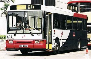 Kowloon–Canton Railway - KCR Feeder Bus in service.