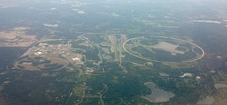 General Motors Proving Grounds - Aerial photograph of the GM proving grounds in Michigan
