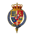 Gartered coat of arms of Christian V, King of Denmark, KG.png