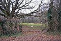 Gate at the beginning of a footpath off a Sussex byway - geograph.org.uk - 1107582.jpg