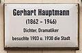 Gedenktafel Markt 7 (Wittenberg) Gerhart Hauptmann.jpg