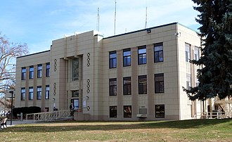 National Register of Historic Places listings in Gem County, Idaho - Image: Gem County Courthouse Emmett Idaho