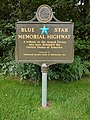 General Andrews Rest Area - Blue Star Memorial Highway sign.jpg