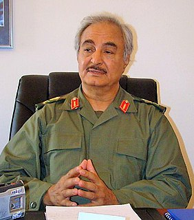 Khalifa Haftar Libyan warlord and former general