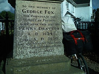 George Fox - Memorial to Fox's birthplace, situated on George Fox Lane in Fenny Drayton, England