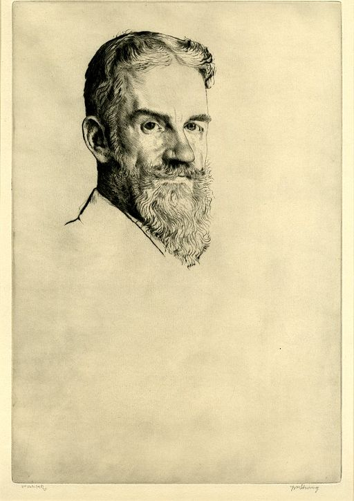 George Bernard Shaw by William Strang 1907
