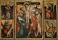 German Master - Triptych of the Crucifixion with Saints Anthony, Christopher, James and George.jpg