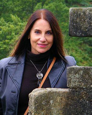 Glynnis Talken Campbell - Glynnis Campbell at Campbell Castle near Dollar, Scotland in 2014