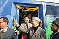 Ghulam Nabi Azad launched the National AIDS Control Organization's Red Ribbon Express Phase III, in New Delhi on January 12, 2012. The Chief Minister of Delhi, Smt. Sheila Dikshit is also seen.jpg