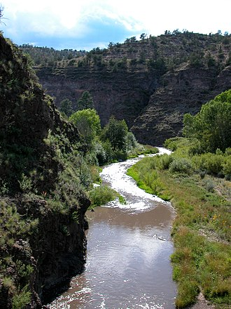 Gila Wilderness - The Gila River winds its way through the Wilderness.