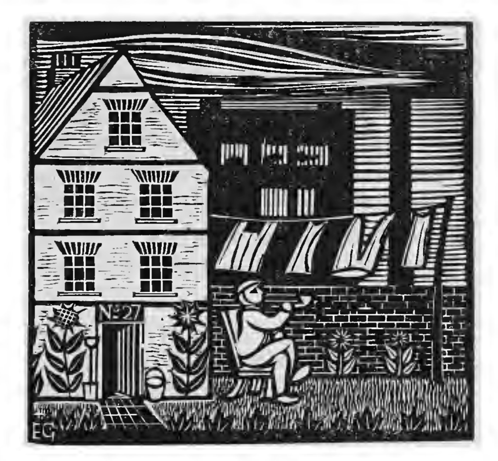 Gill woodcut Hammersmith