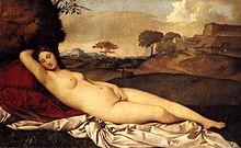 La Venere dormiente, tela raffigurante un individuo di sesso femminile