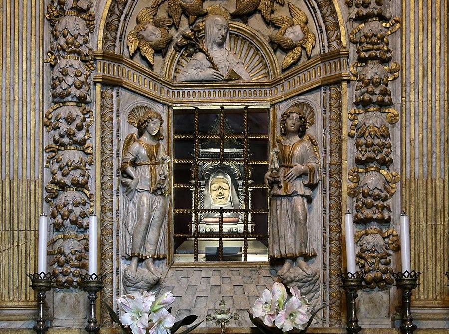 Giovanni di stefano, altare marmoreo di santa caterina, 1466, 06,0
