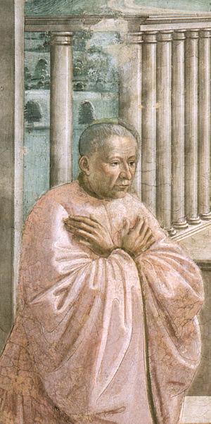 Giovanni Tornabuoni - Donor portrait of Giovanni Tornabuoni in the Tornabuoni Chapel, by Domenico Ghirlandaio.