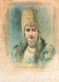 Girl Wearing a Kokoshnik and Pearl Choker by L.Bakst (priv.coll).jpg