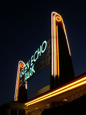 Glen Echo Park, Maryland - Image: Glen Echo Neon Entrance