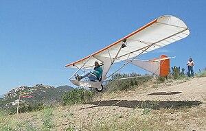 """Glider (aircraft) - Ultralight """"airchair"""" Sandlin Goat 1 glider"""