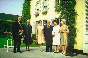 Conrad Corfield - Conrad Corfield (middle) and wife Sylvia in 1971 at the wedding of June Corfield's first son.