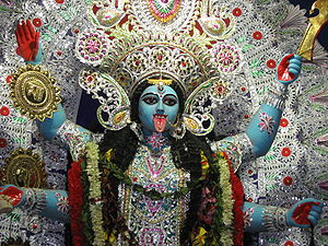 English: Picture of Hindu Goddess Kali. This p...