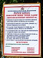 Gokarna police anti-drug sign (6435390437).jpg