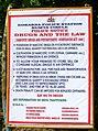 Gokarna police anti-drug sign (6435390437).jpg