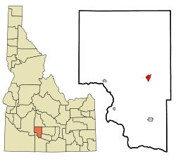 Location in Gooding County and the state of Idaho