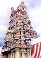 Sculptures of Hindu deities are an essential design feature of most of the temples in southern India. Shown here is the famous Meenakshi temple in Tamil Nadu.